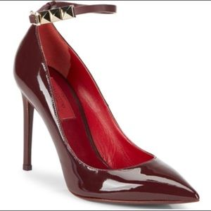Valentino Shoes - NEW Valentino Rockstud Patent Leather Ankle Pumps
